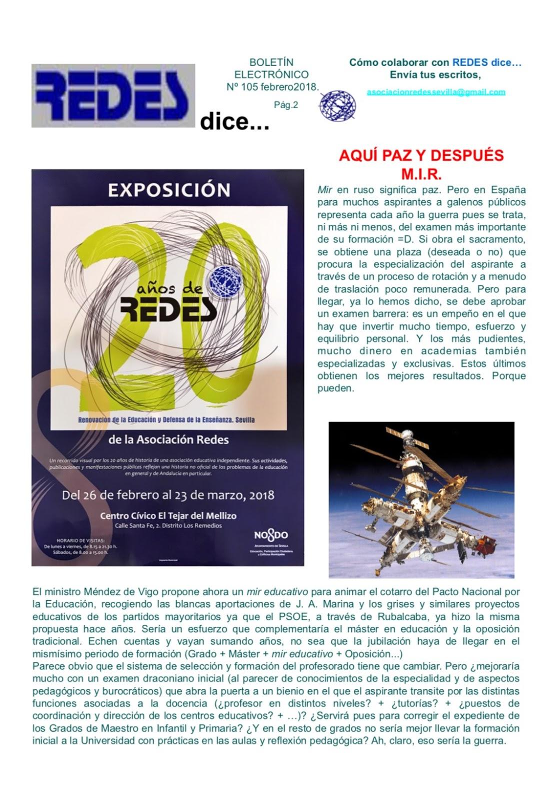 Boletín Electrónico REDES dice...
