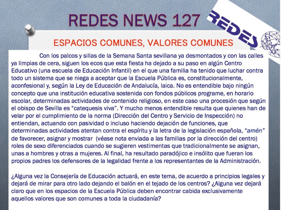 REDES News 127. Espacios comunes, valores comunes.